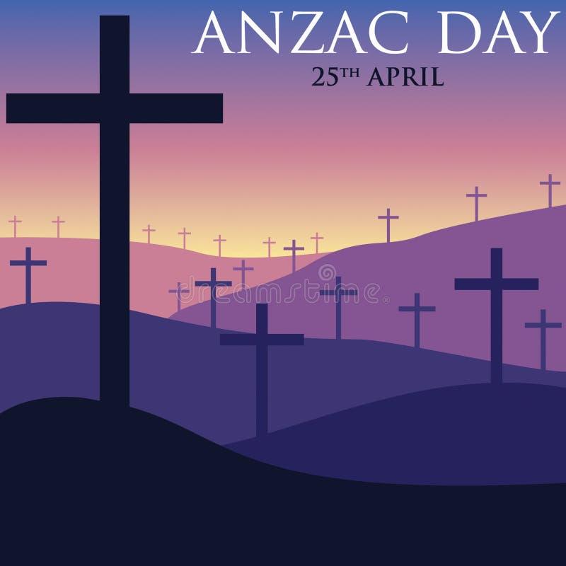 Cartão de ANZAC Day no formato do vetor ilustração royalty free