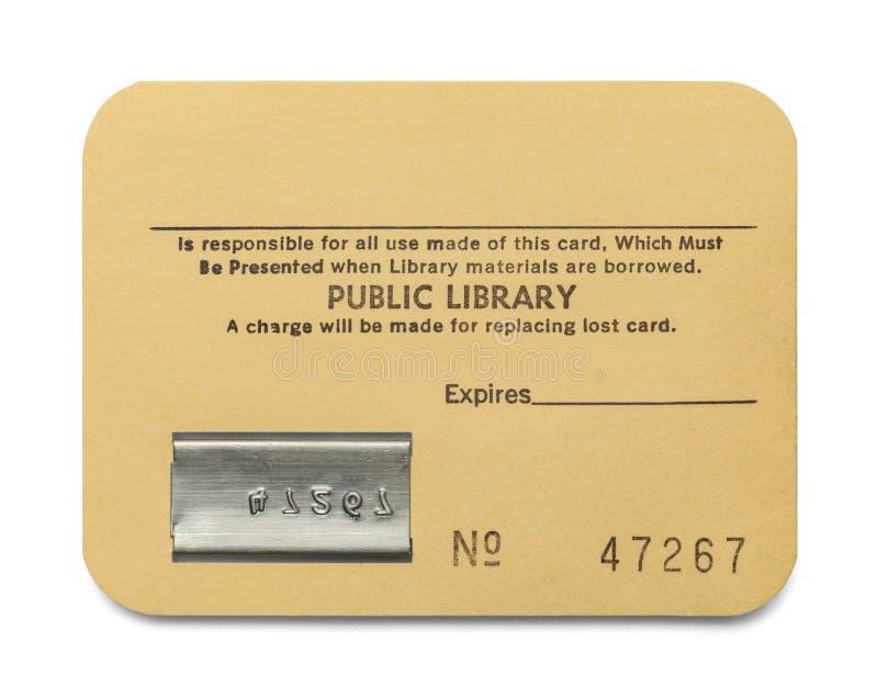 Cartão de biblioteca foto de stock royalty free