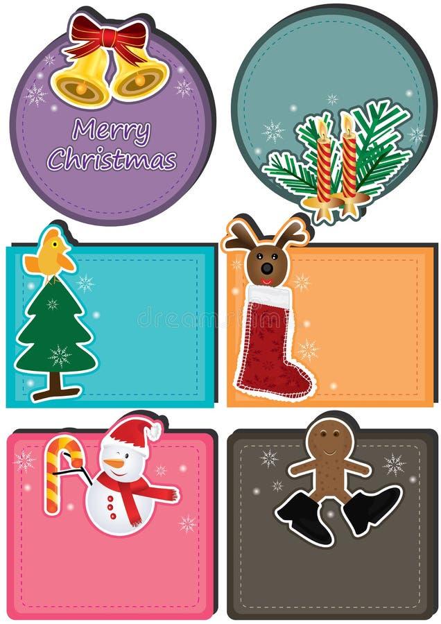 Cartão de caráter Set_eps do Natal ilustração stock