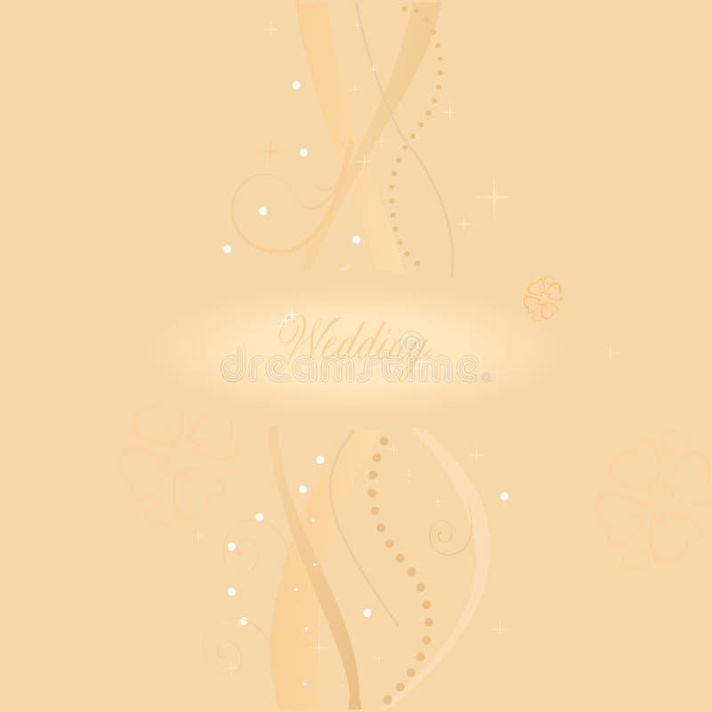 Cartão de casamento ilustração do vetor