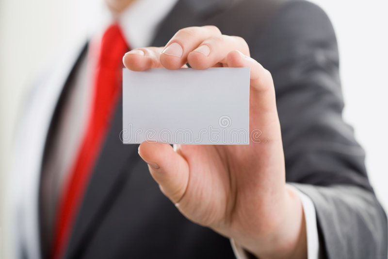 Cartão de chamada fotografia de stock