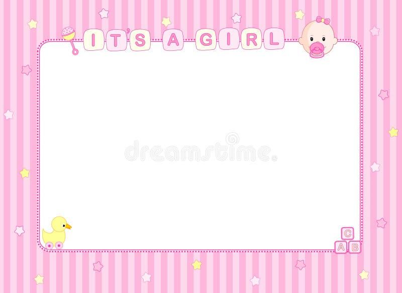 Cartão de chegada do bebé/fundo ilustração do vetor