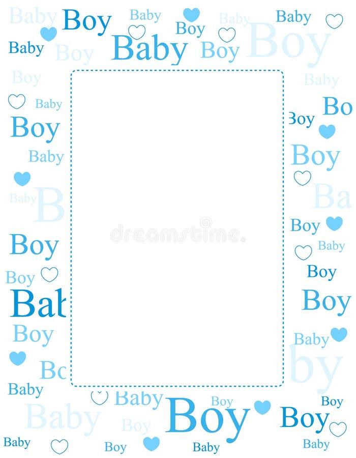 Cartão de chegada do bebé/fundo ilustração stock