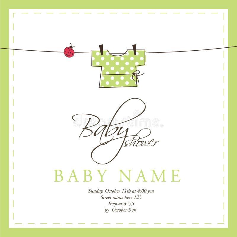Cartão de chegada do bebê ilustração stock