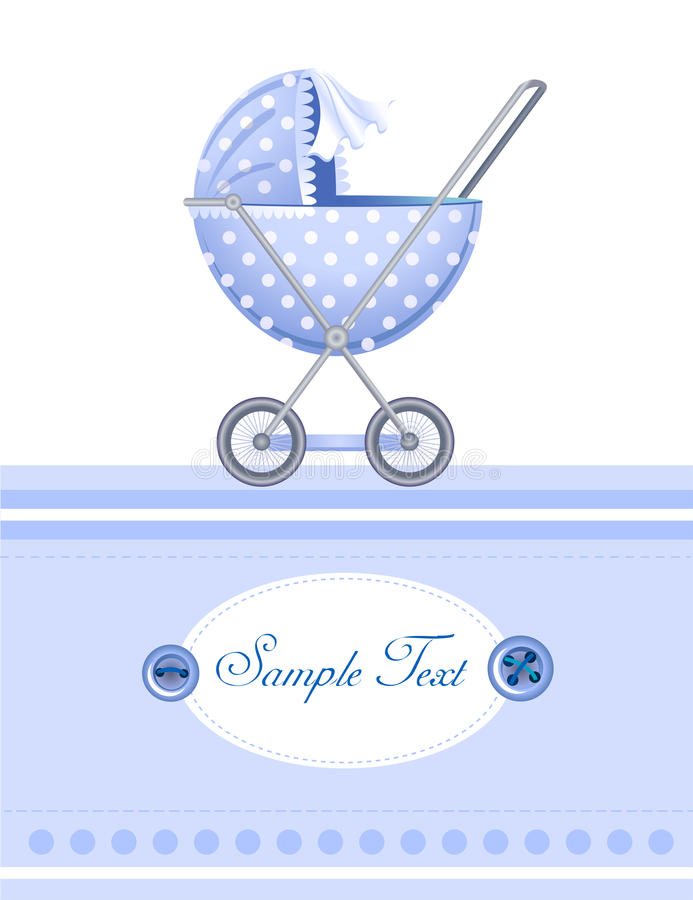 Cartão de chegada do bebê ilustração royalty free