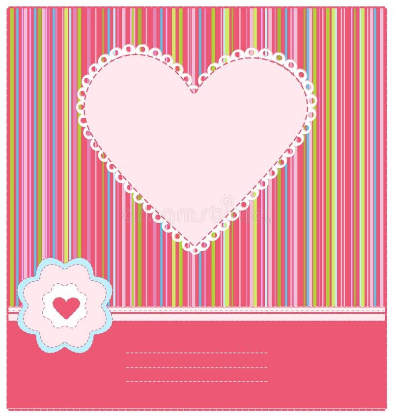 Cartão de chegada do bebê com frame da foto ilustração do vetor