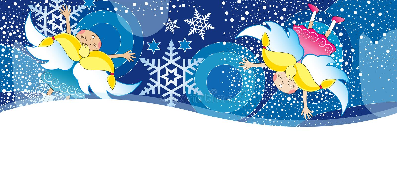 Cartão de Christmass com floco ilustração do vetor