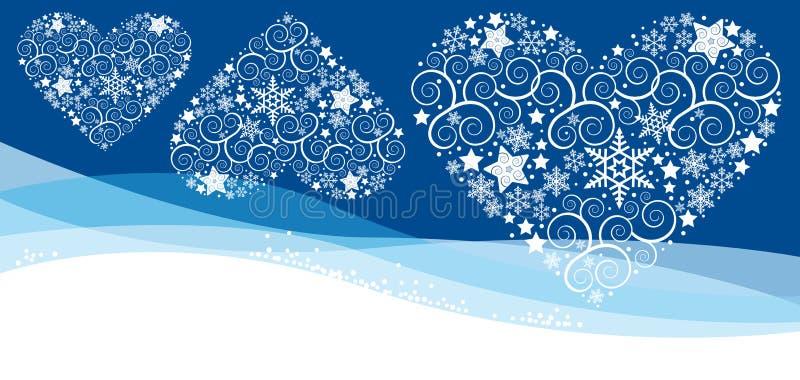 Cartão de Christmass com floco ilustração stock