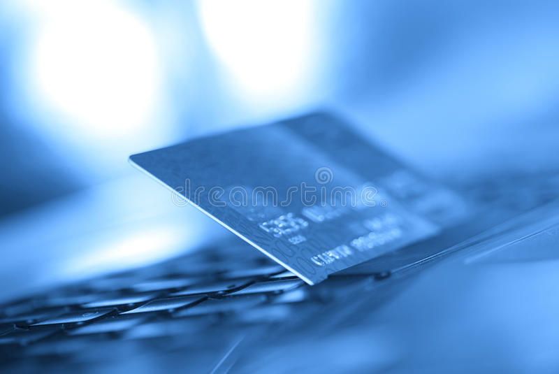 Cartão de crédito foto de stock