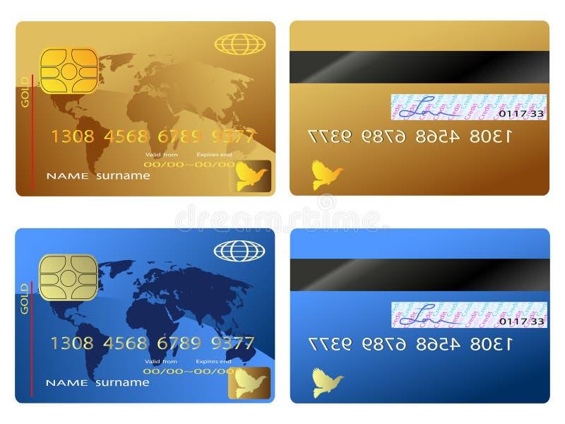 Cartão de crédito ilustração do vetor