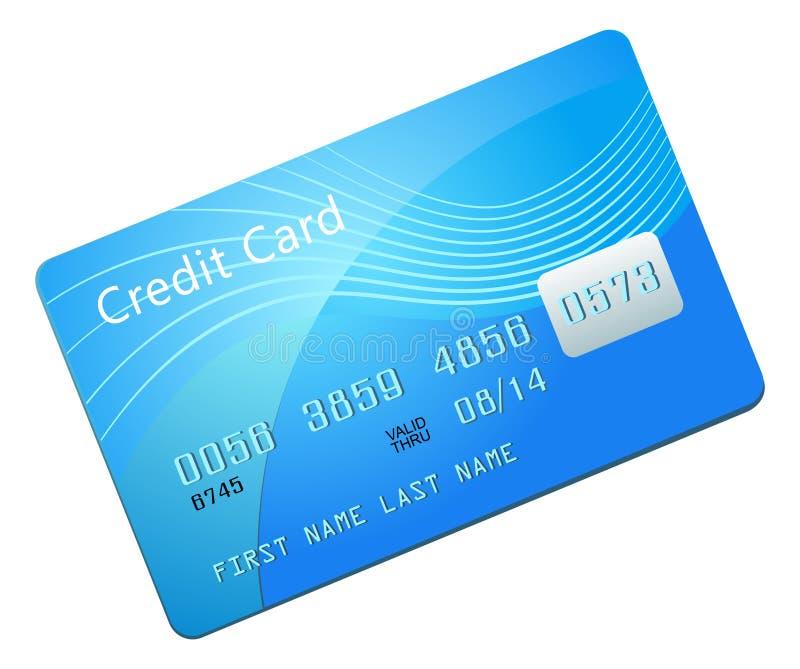 Cartão de crédito azul ilustração do vetor
