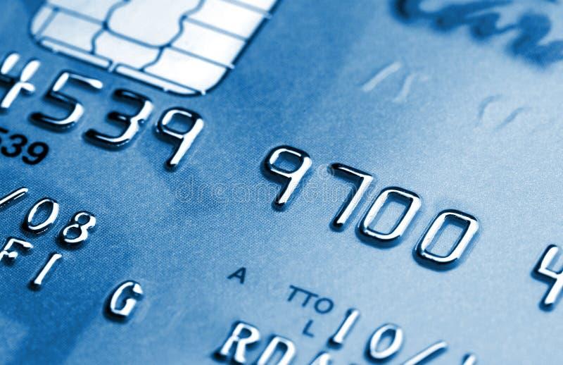 Cartão de crédito azul fotografia de stock