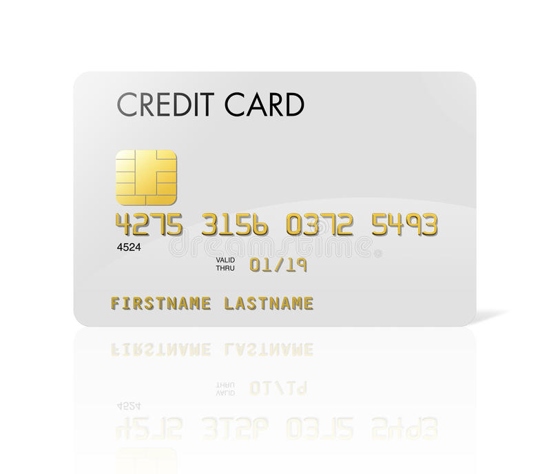 Cartão de crédito branco ilustração royalty free