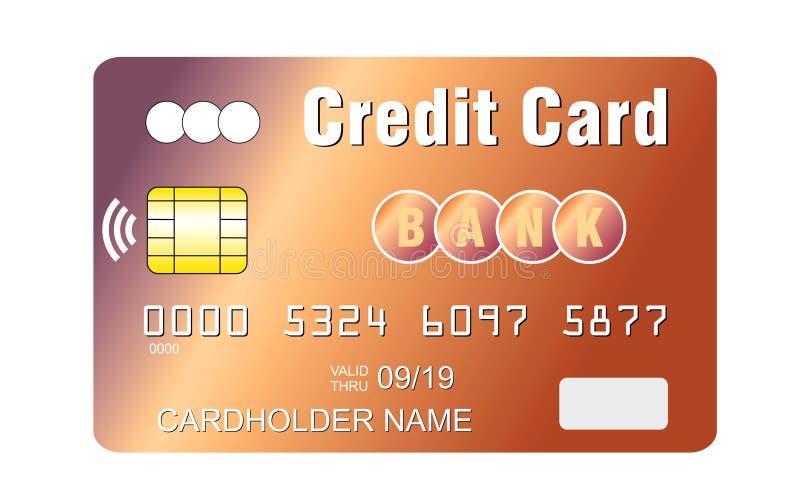 Cartão de crédito com a microplaqueta sem contato do pagamento imagens de stock royalty free