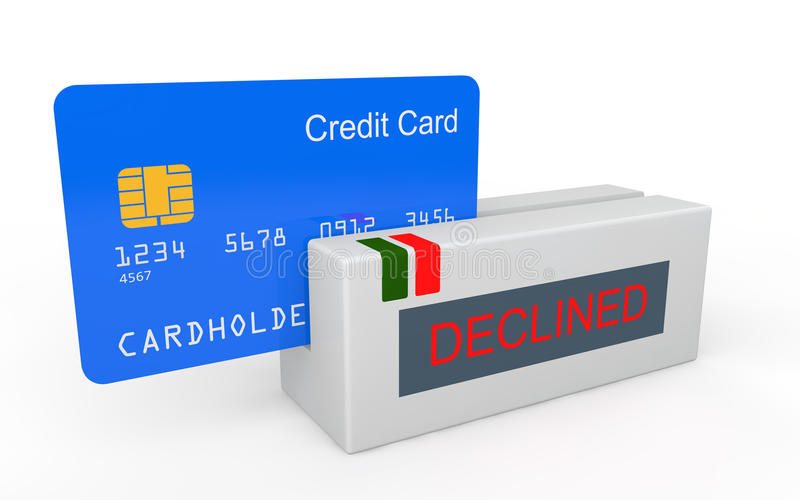 cartão de crédito 3d diminuído ilustração stock