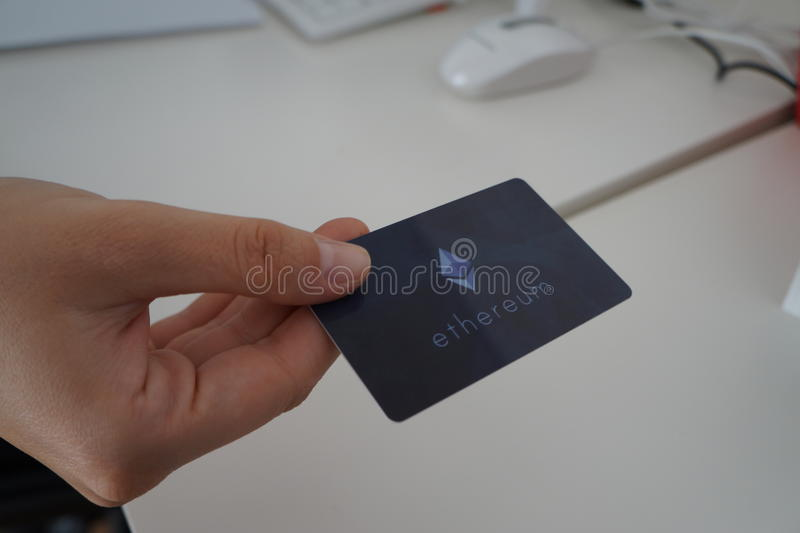 Cartão de crédito de Ethereum foto de stock