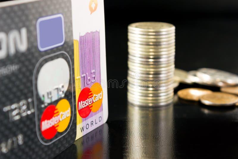 Cartão de crédito de MasterCard fotos de stock royalty free