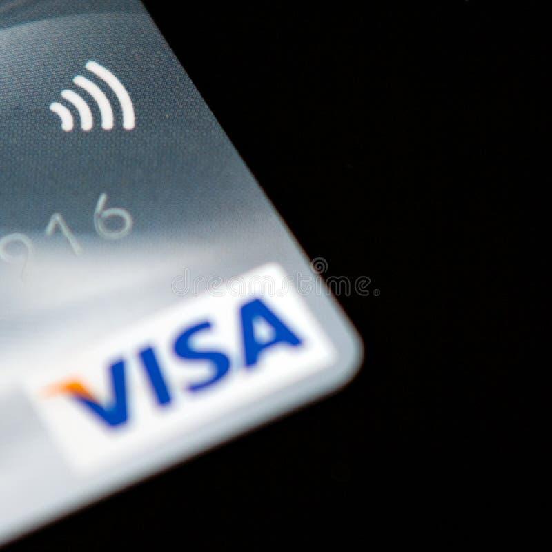 Cartão de crédito de Paywave do visto foto de stock