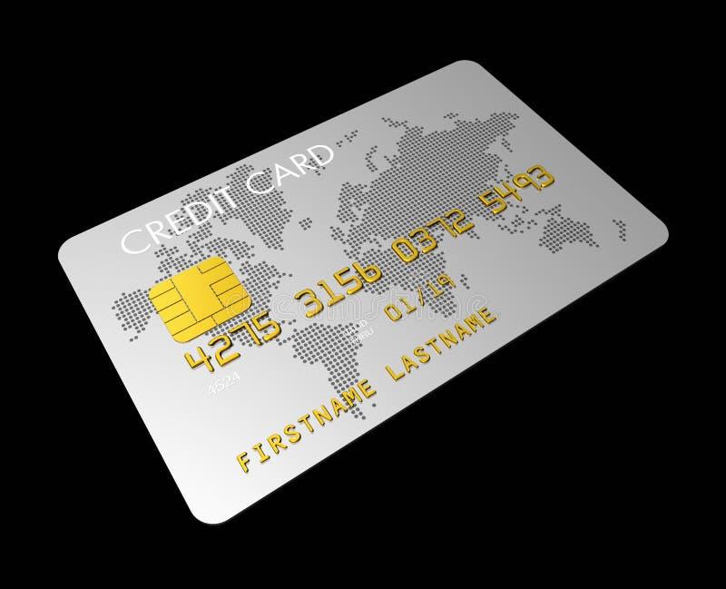 Cartão de crédito de prata ilustração do vetor