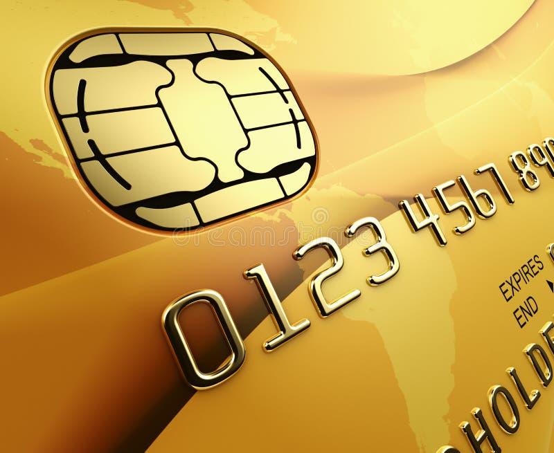 Cartão de crédito do ouro ilustração do vetor