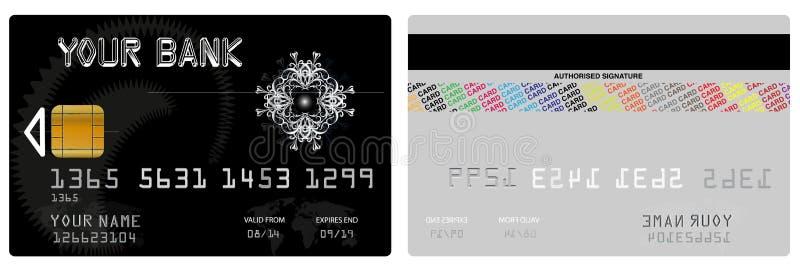Cartão de crédito do vetor fotografia de stock