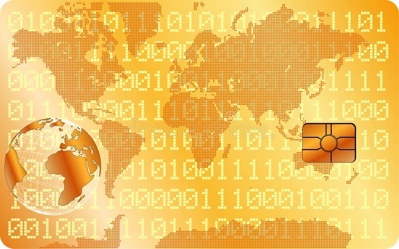Cartão de crédito dourado ilustração do vetor