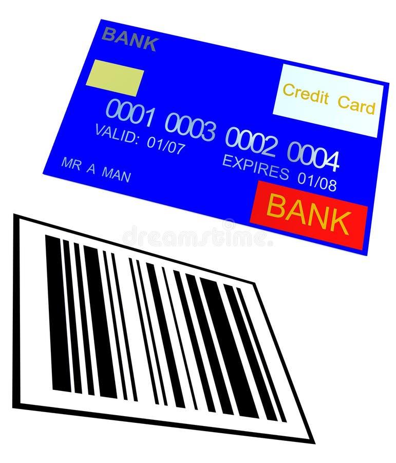 Cartão de crédito e código de barras 8 ilustração royalty free