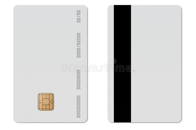 Cartão de crédito em branco do ec fotos de stock royalty free