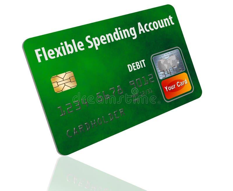 Cartão de crédito flexível do FSA da conta da despesa fotos de stock