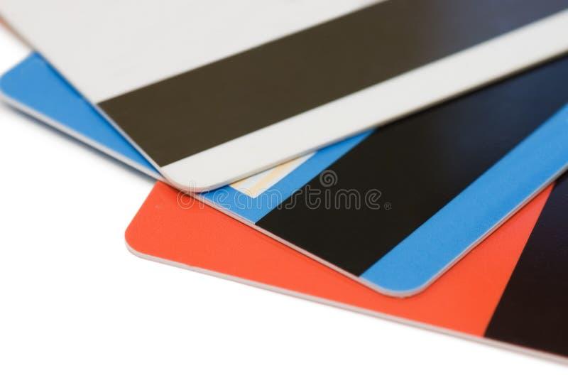 Cartão de crédito isolado no branco imagem de stock royalty free