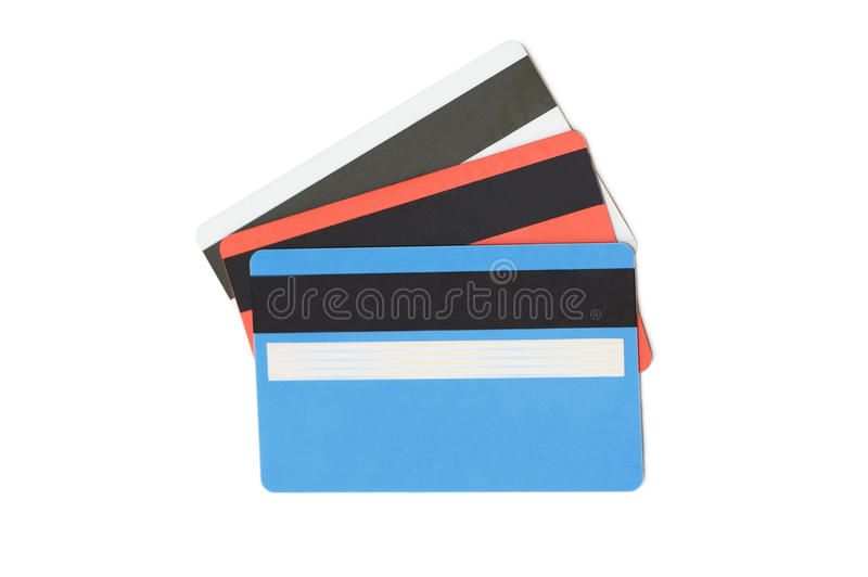 Cartão de crédito isolado no branco foto de stock
