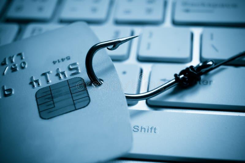 Cartão de crédito que phishing foto de stock royalty free