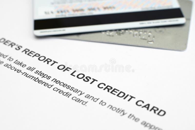 Cartão de crédito roubado fotografia de stock royalty free