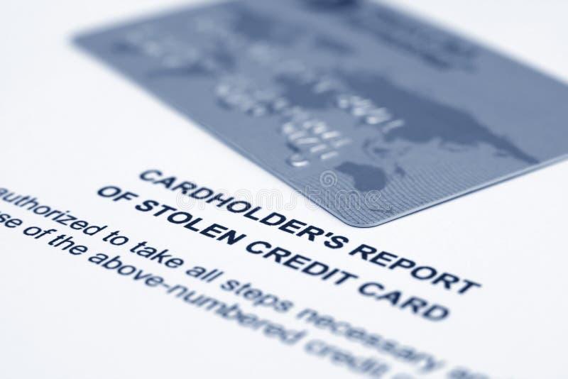Cartão de crédito roubado imagem de stock