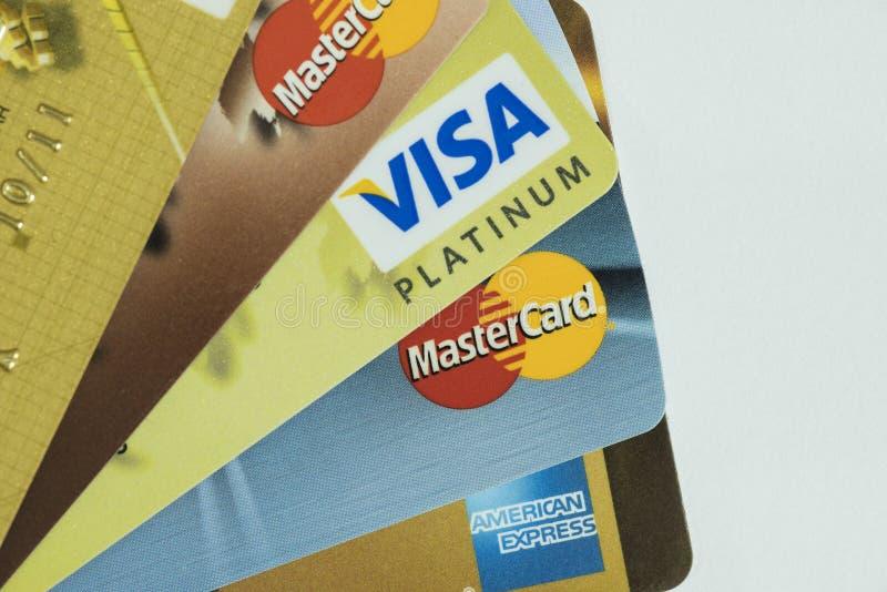 Cartão de crédito s foto de stock
