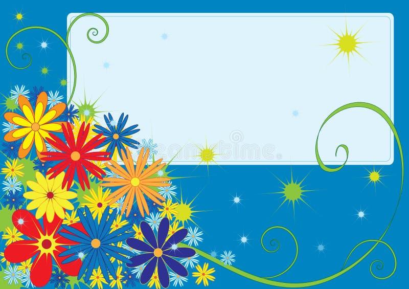 Cartão de cumprimentos com flores ilustração stock