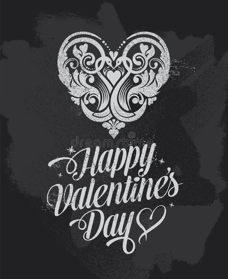Cartão de cumprimentos da bandeira do dia de Valentim do quadro ilustração stock