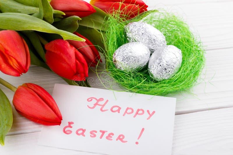 Cartão de cumprimentos de Easter imagens de stock