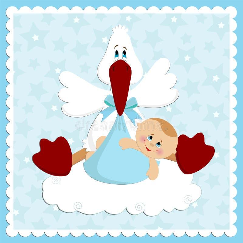 Cartão de cumprimentos do bebê ilustração royalty free