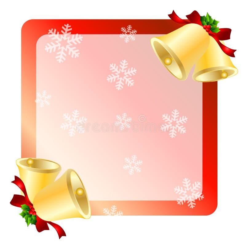 Cartão de cumprimentos dos sinos de Natal ilustração do vetor
