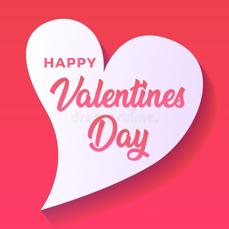 Cartão de cumprimentos feliz do dia dos Valentim fotos de stock