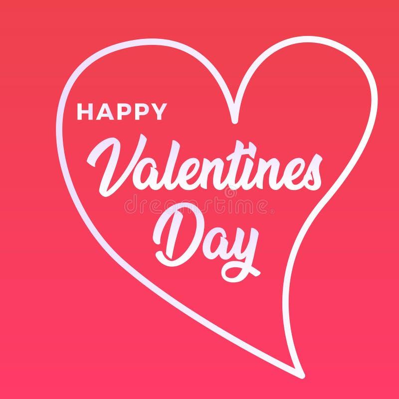 Cartão de cumprimentos feliz do dia dos Valentim foto de stock