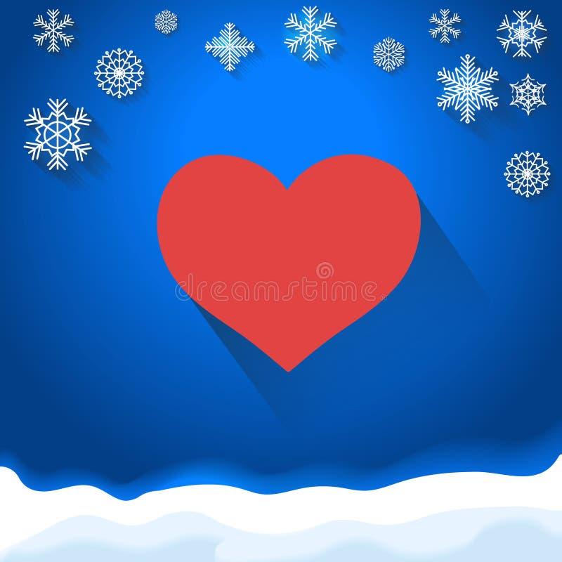 Cartão de dia e de casamento de Valentim com corações ilustração stock