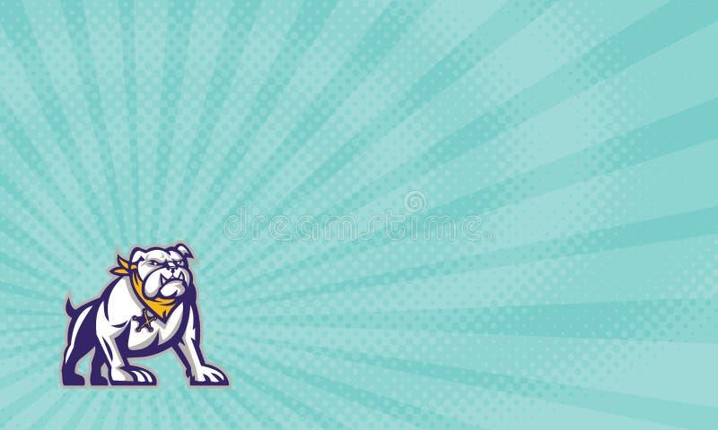 Cartão de Dog Investments Business do protetor ilustração do vetor