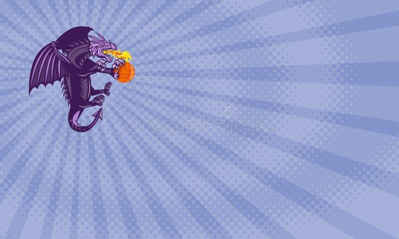Cartão de Dragon Basketball Training Business ilustração royalty free