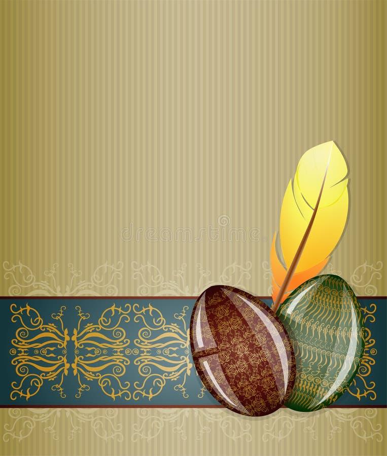 Cartão de Easter. ilustração royalty free