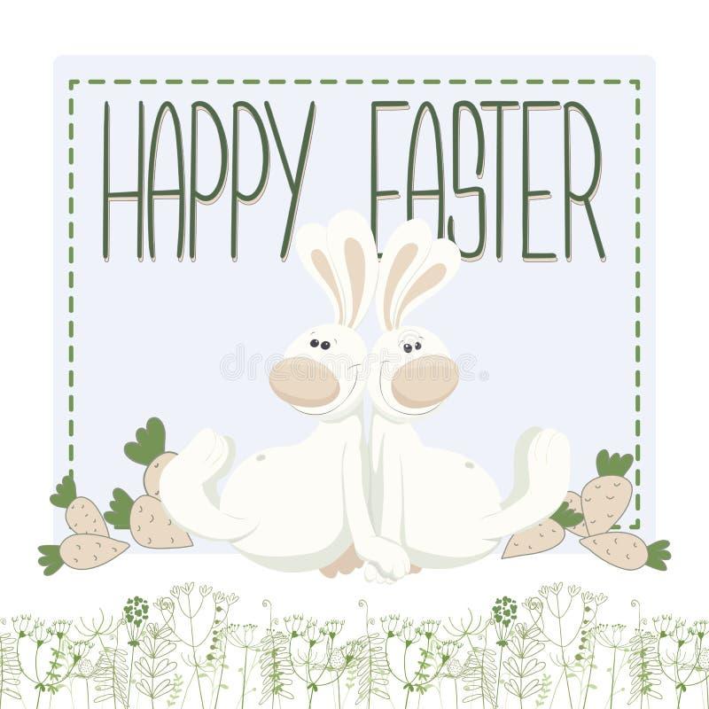 Cartão de Easter bonito ilustração do vetor