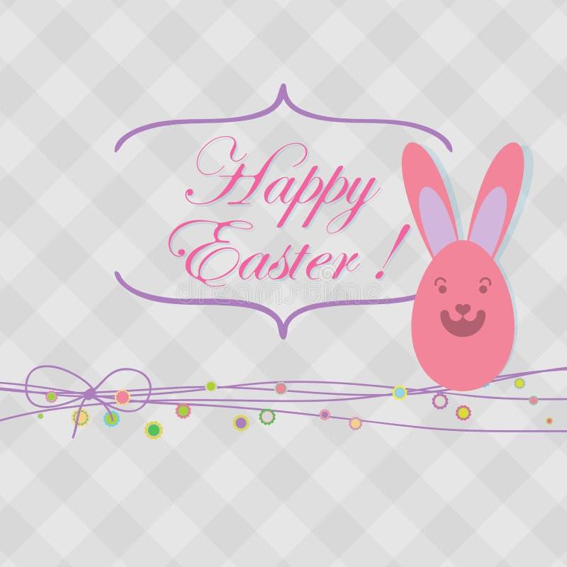 Cartão de Easter com espaço da cópia. + EPS8 ilustração royalty free