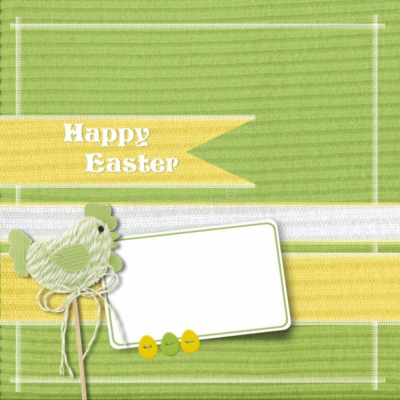 Cartão de Easter com galinha ilustração stock