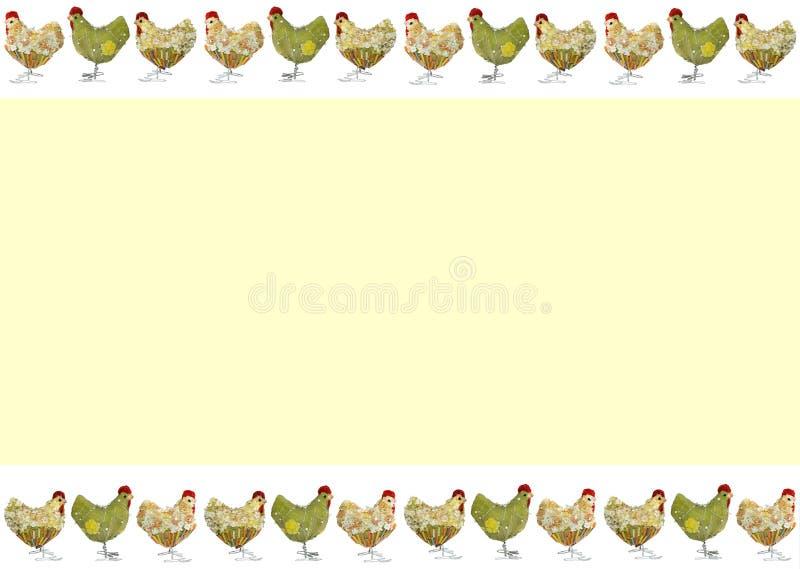 Cartão de Easter com galinhas fotografia de stock royalty free